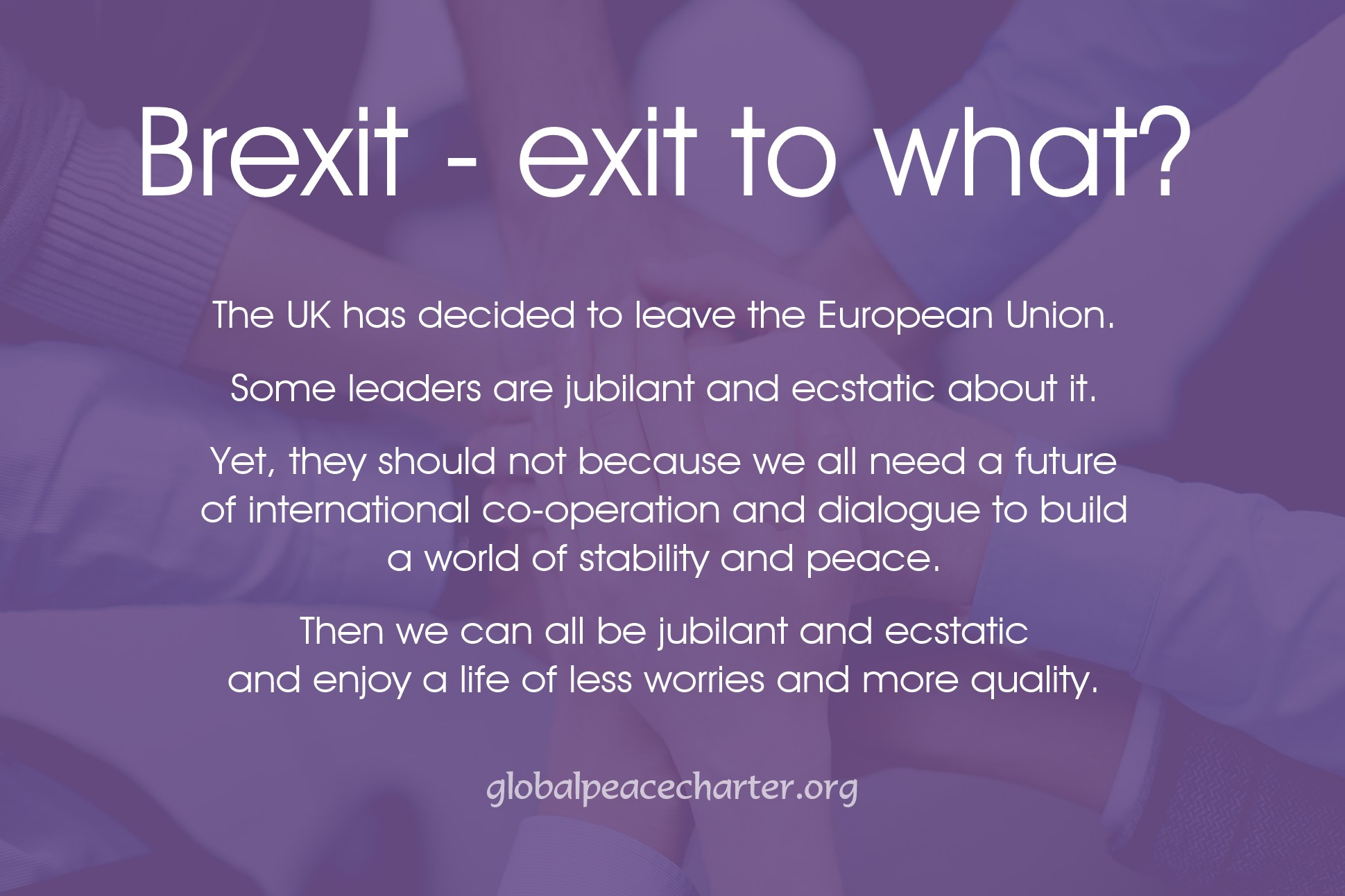 Brexit - exit to what?