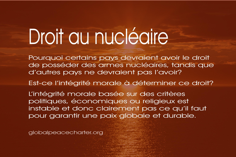 Droit au nucléaire