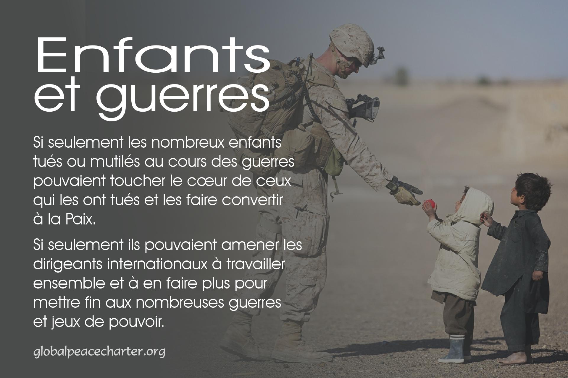 Enfants et guerres