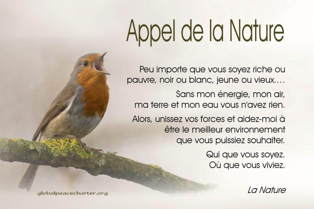 Appel de la Nature