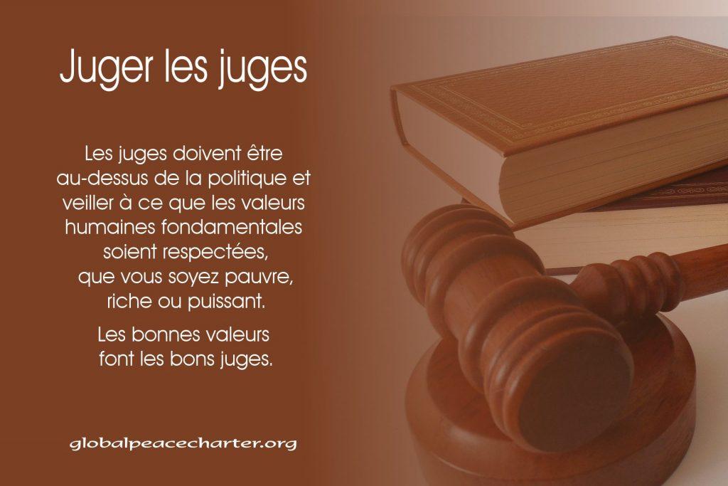 Juger les juges