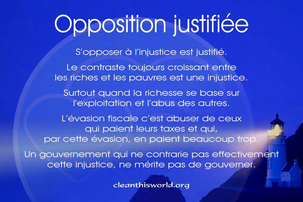 Opposition justifiée