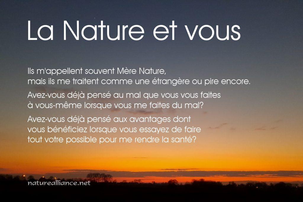 La Nature et vous