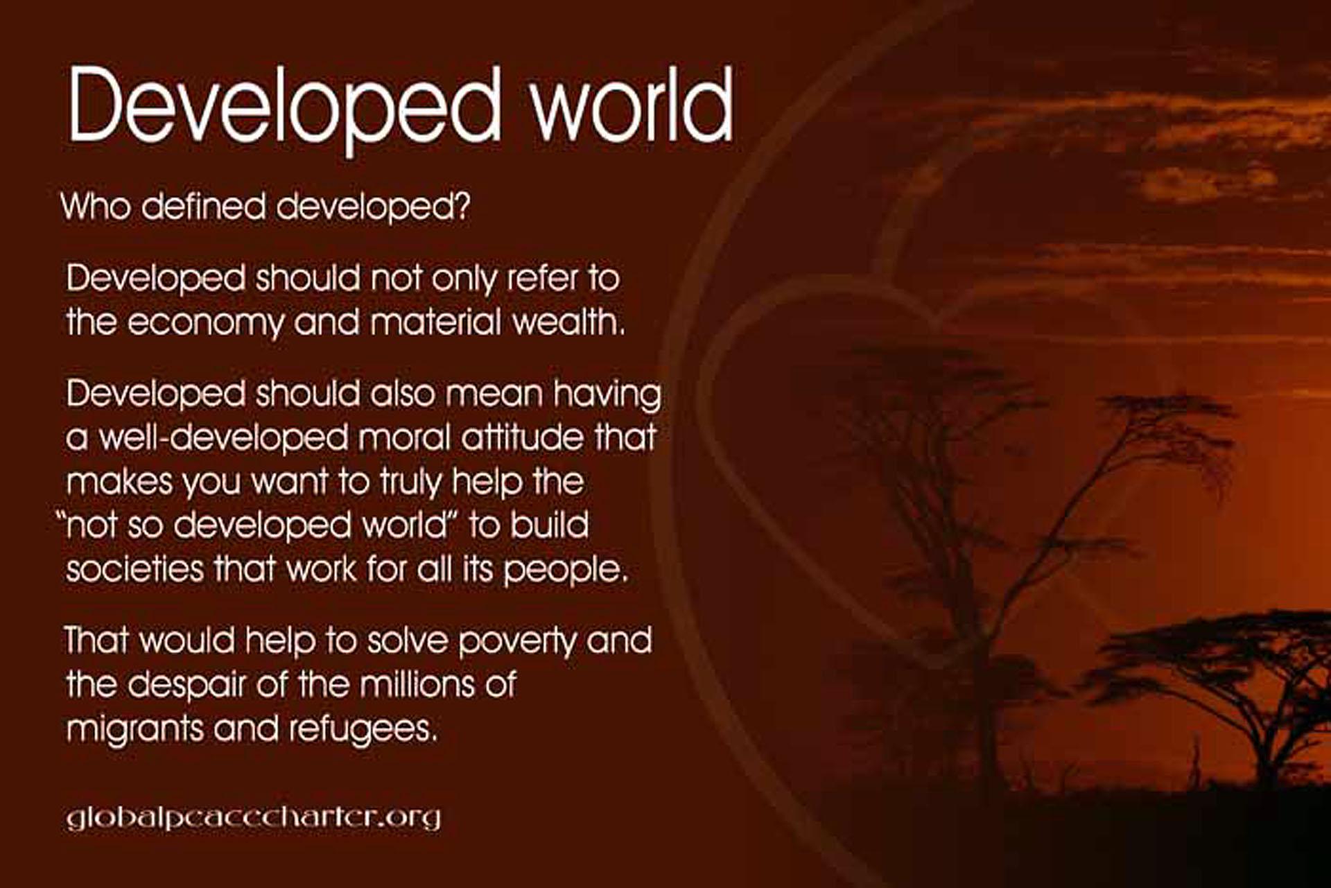 Developed world
