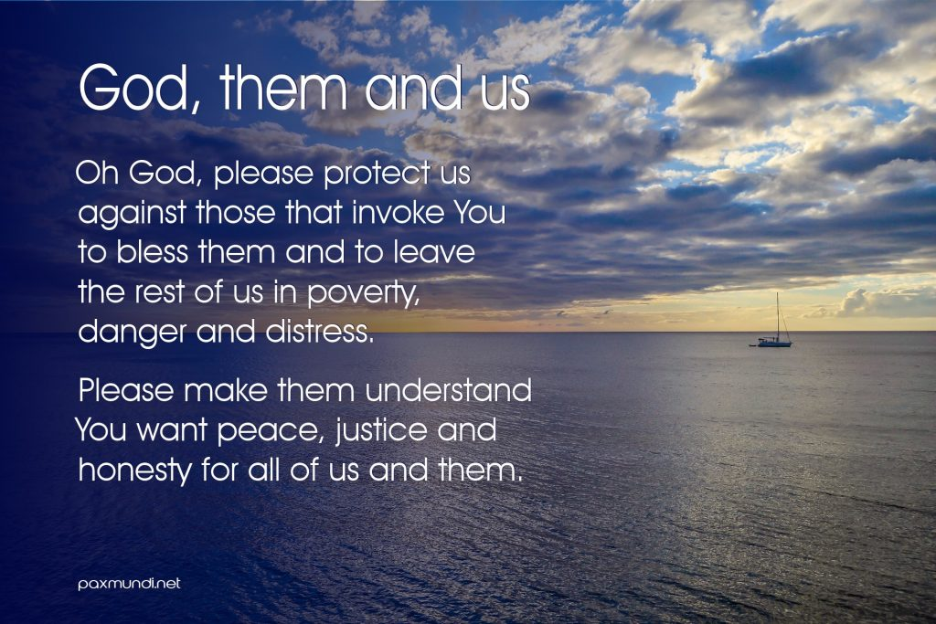 God, them and us