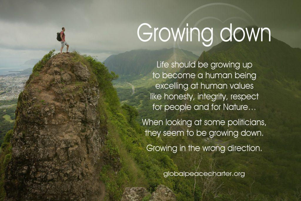 Growing down