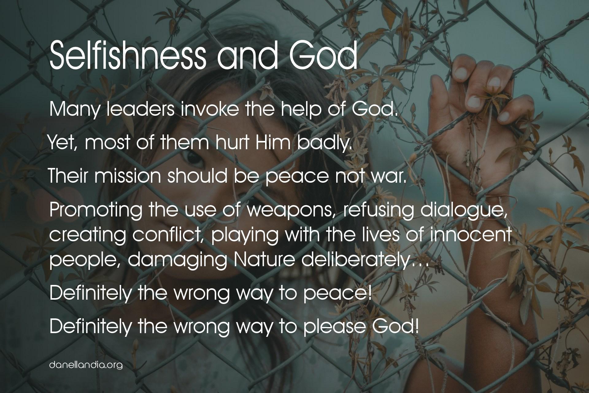 Selfishness and God