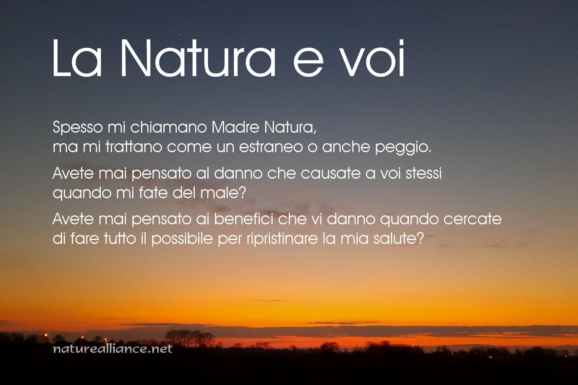 La Natura e voi
