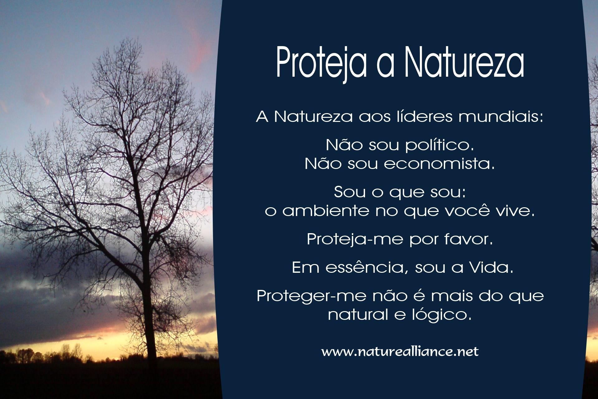 Proteja a Natureza
