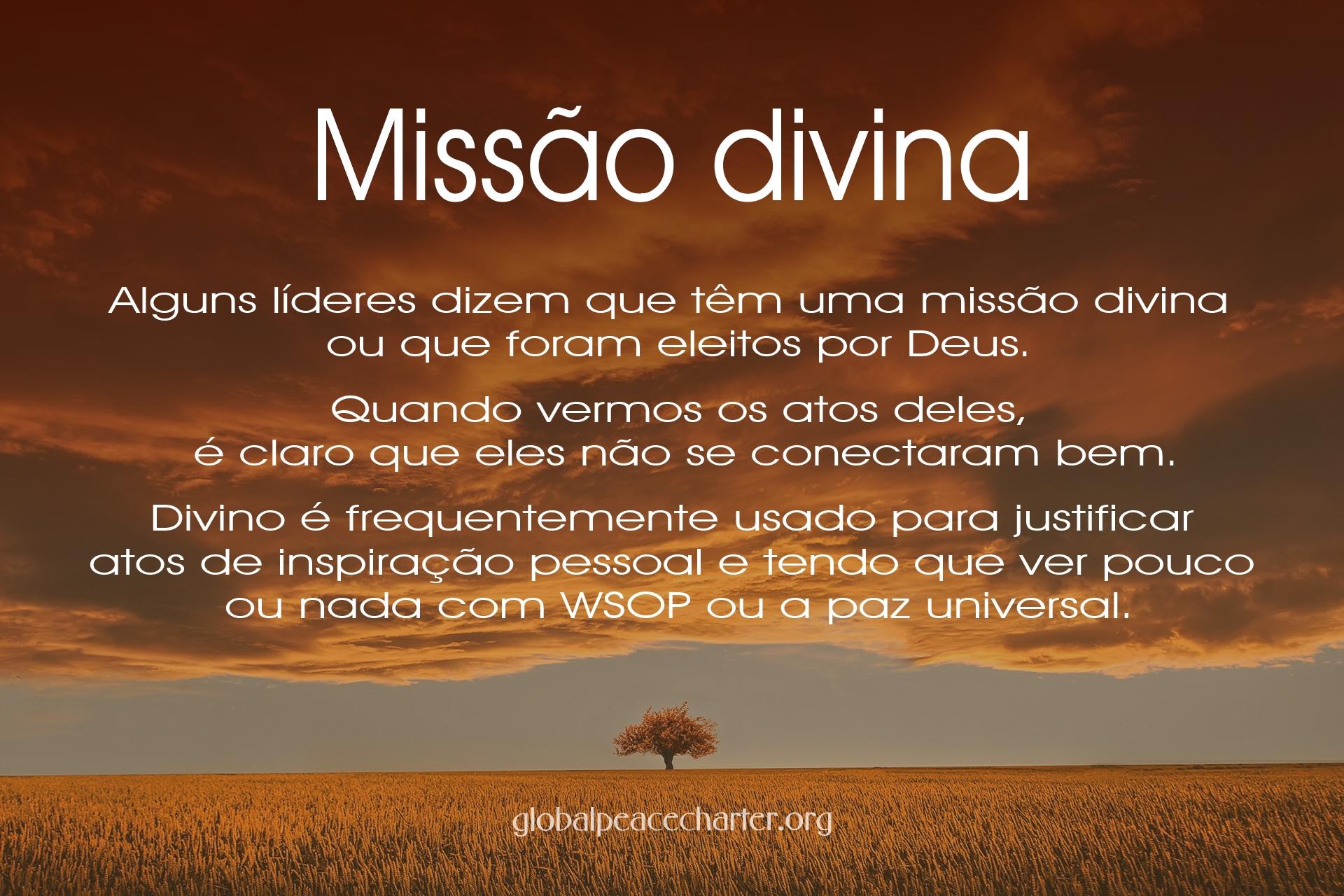Missão divina