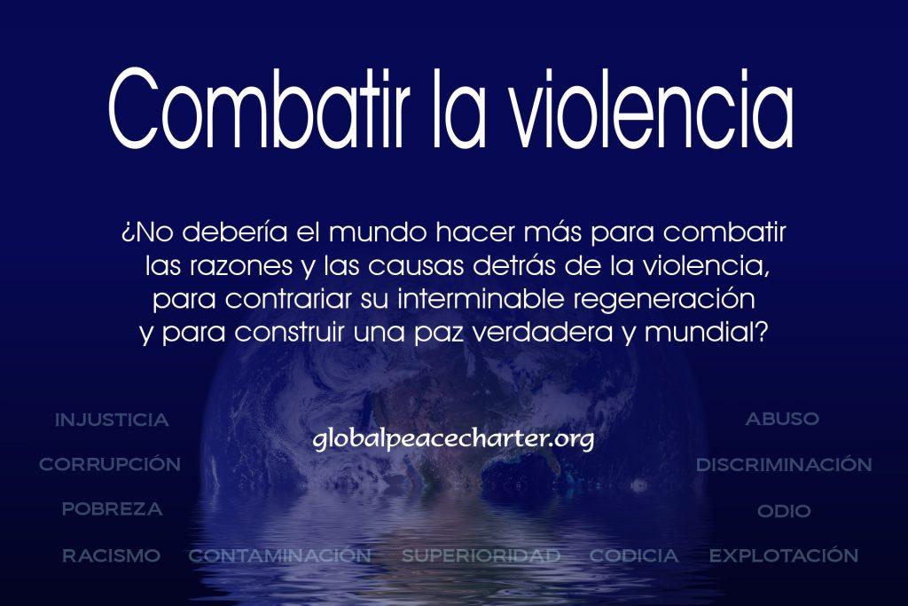 Combatir la violencia