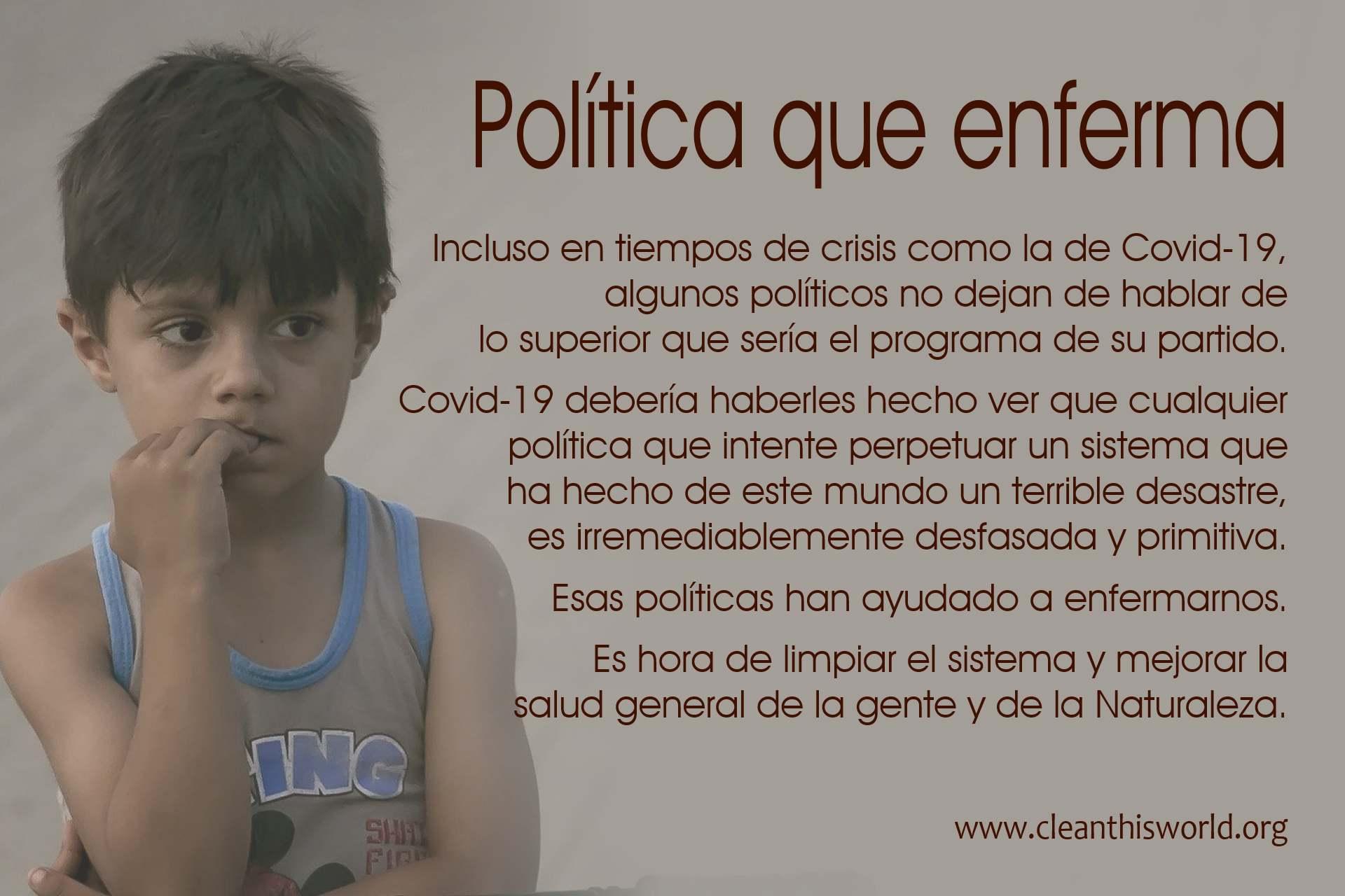 Política que enferma