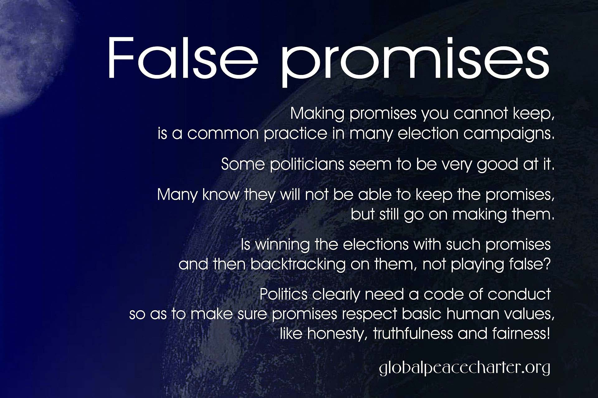 False promises