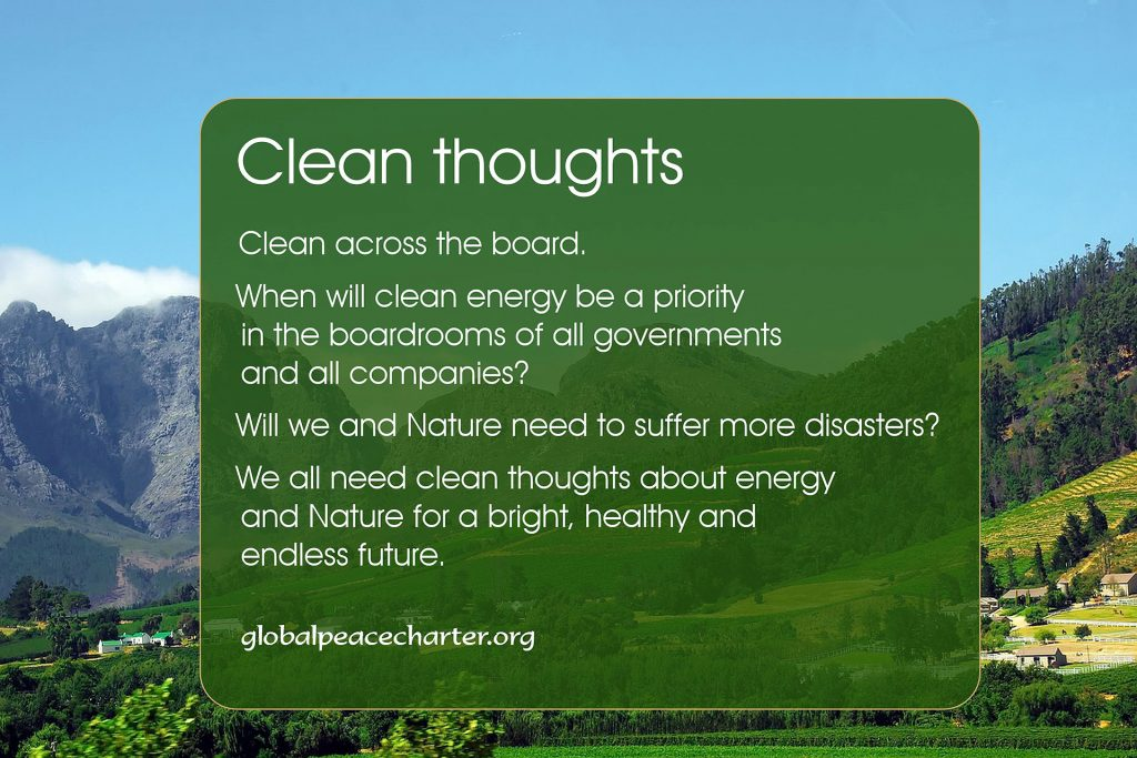 Clean thoughts