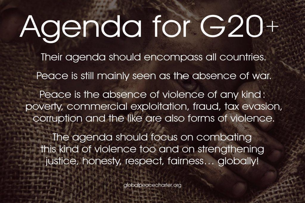Agenda for G20+