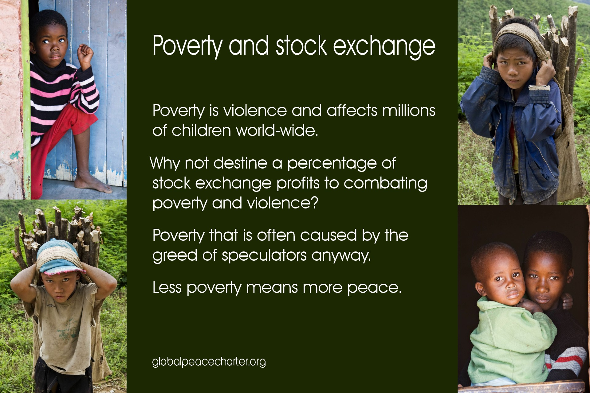 Poverty and stock exchange