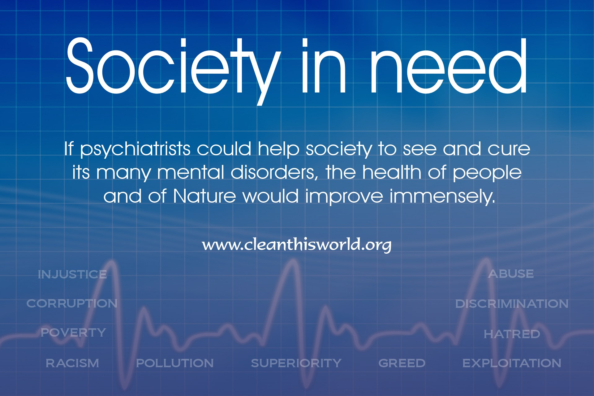 Society in need