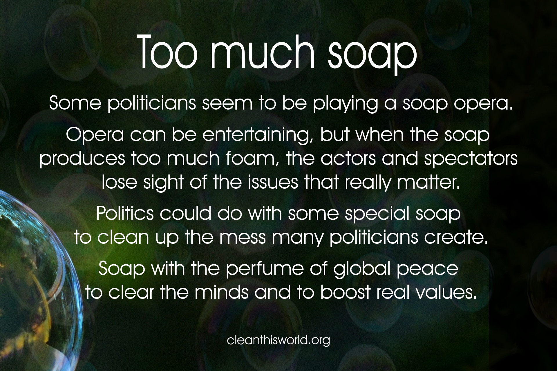 Too much soap