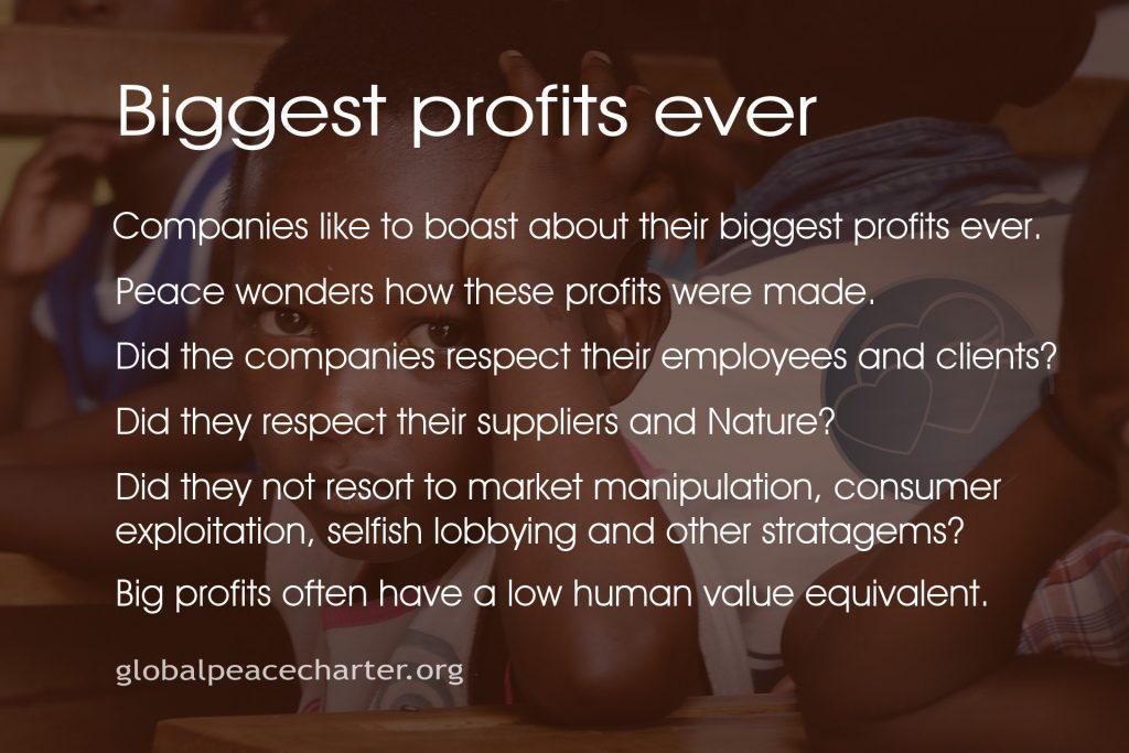 Biggest profits ever