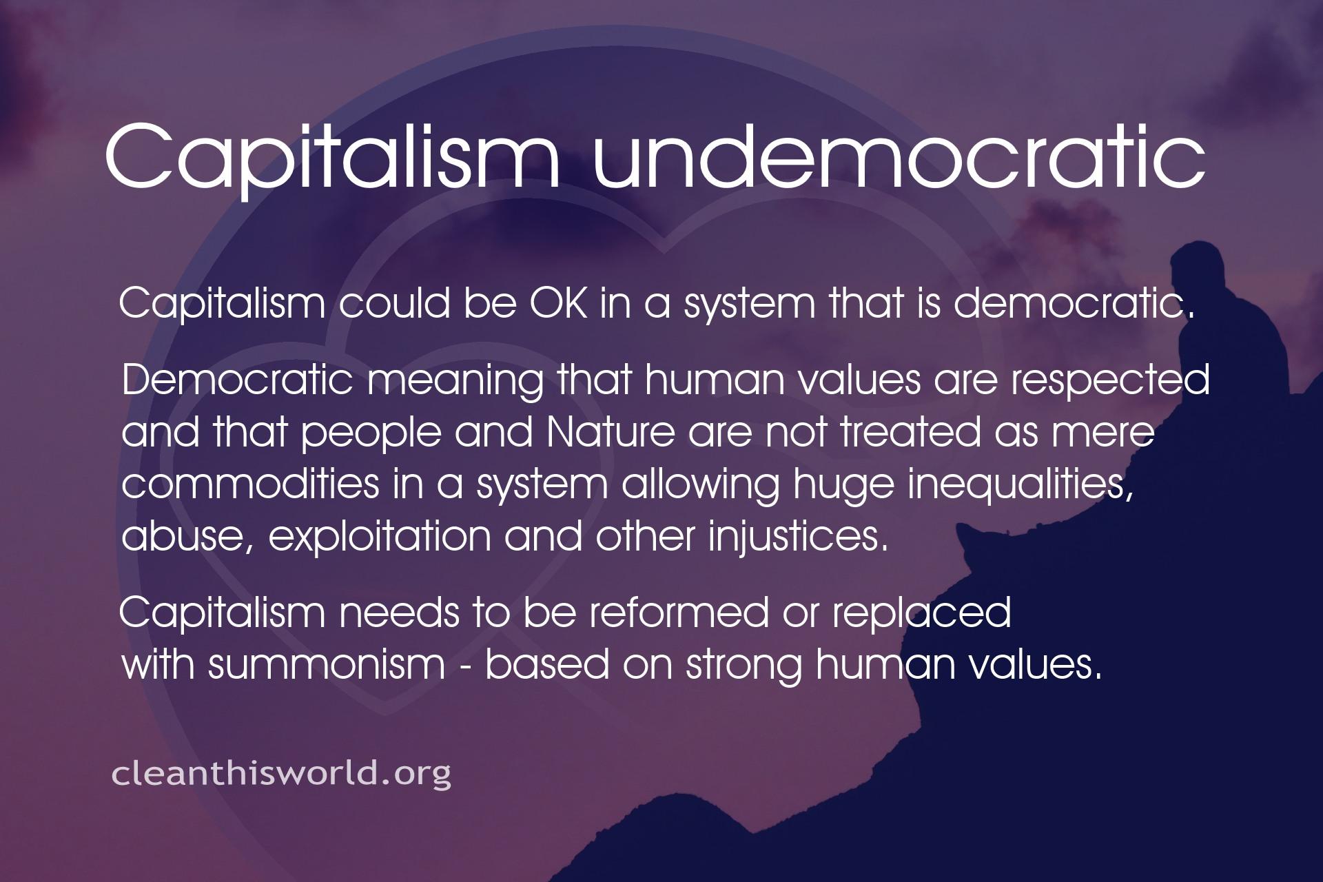 Capitalism undemocratic