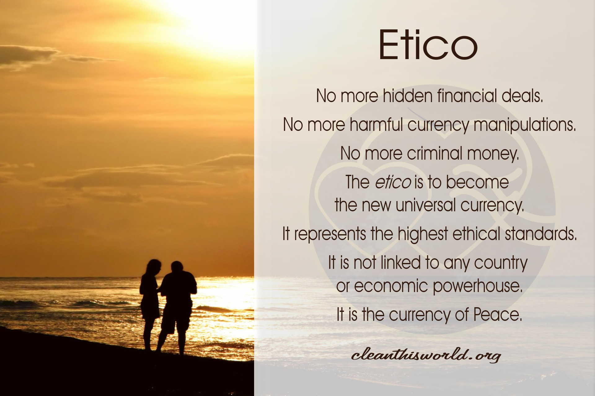 Etico - currency of Peace