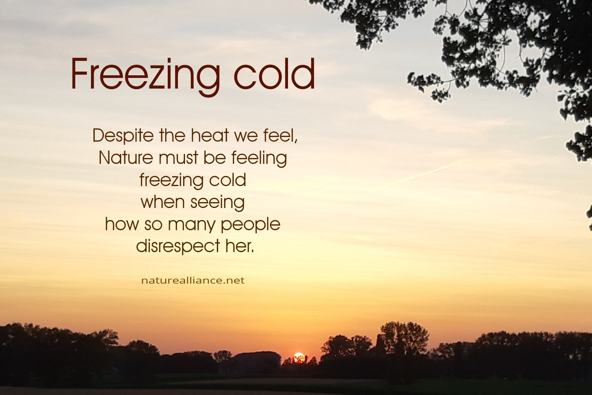 Freezing cold
