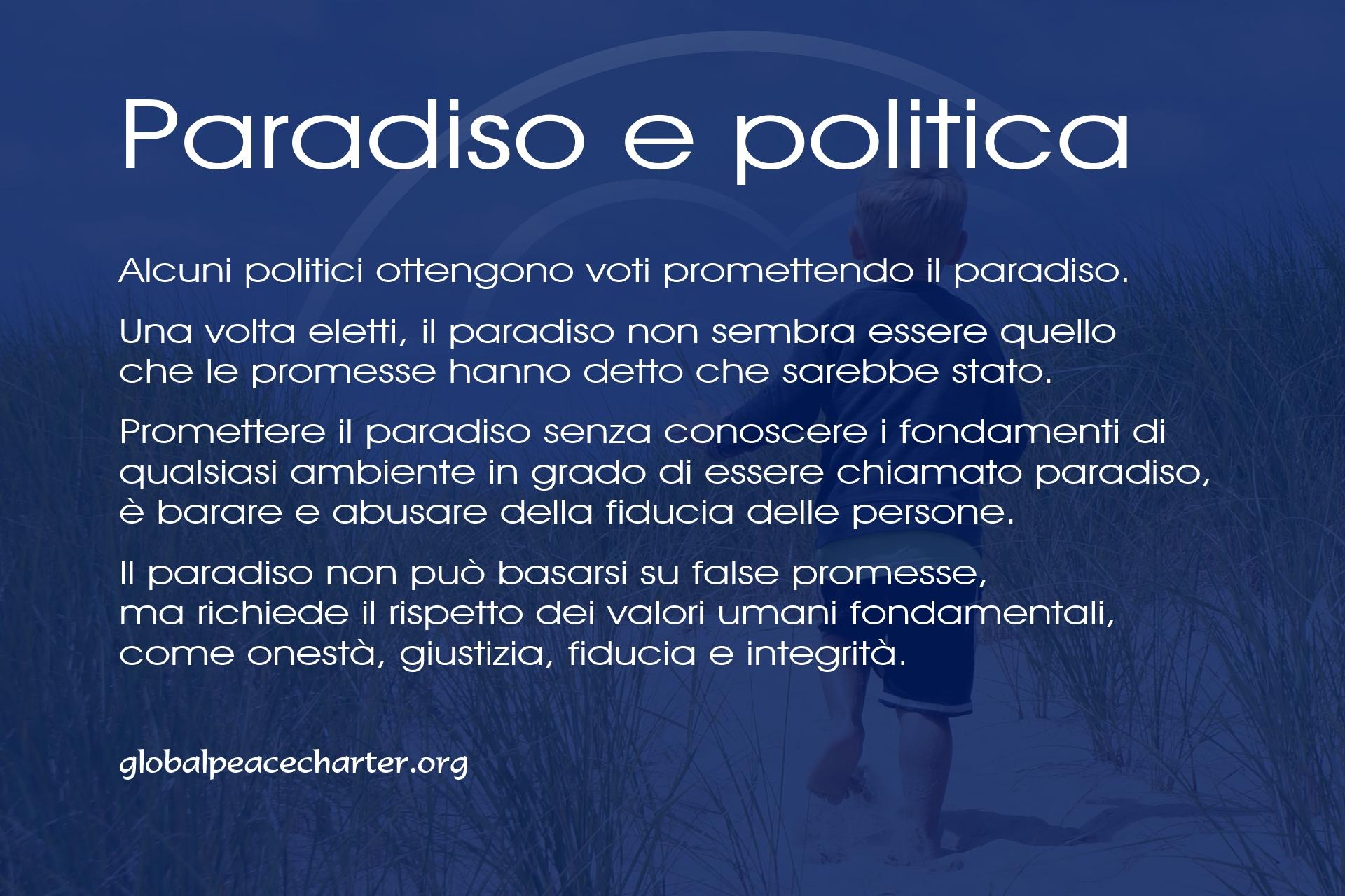 Paradiso e politica