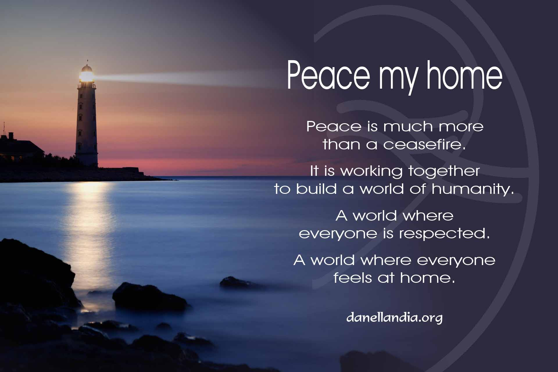 Peace my home