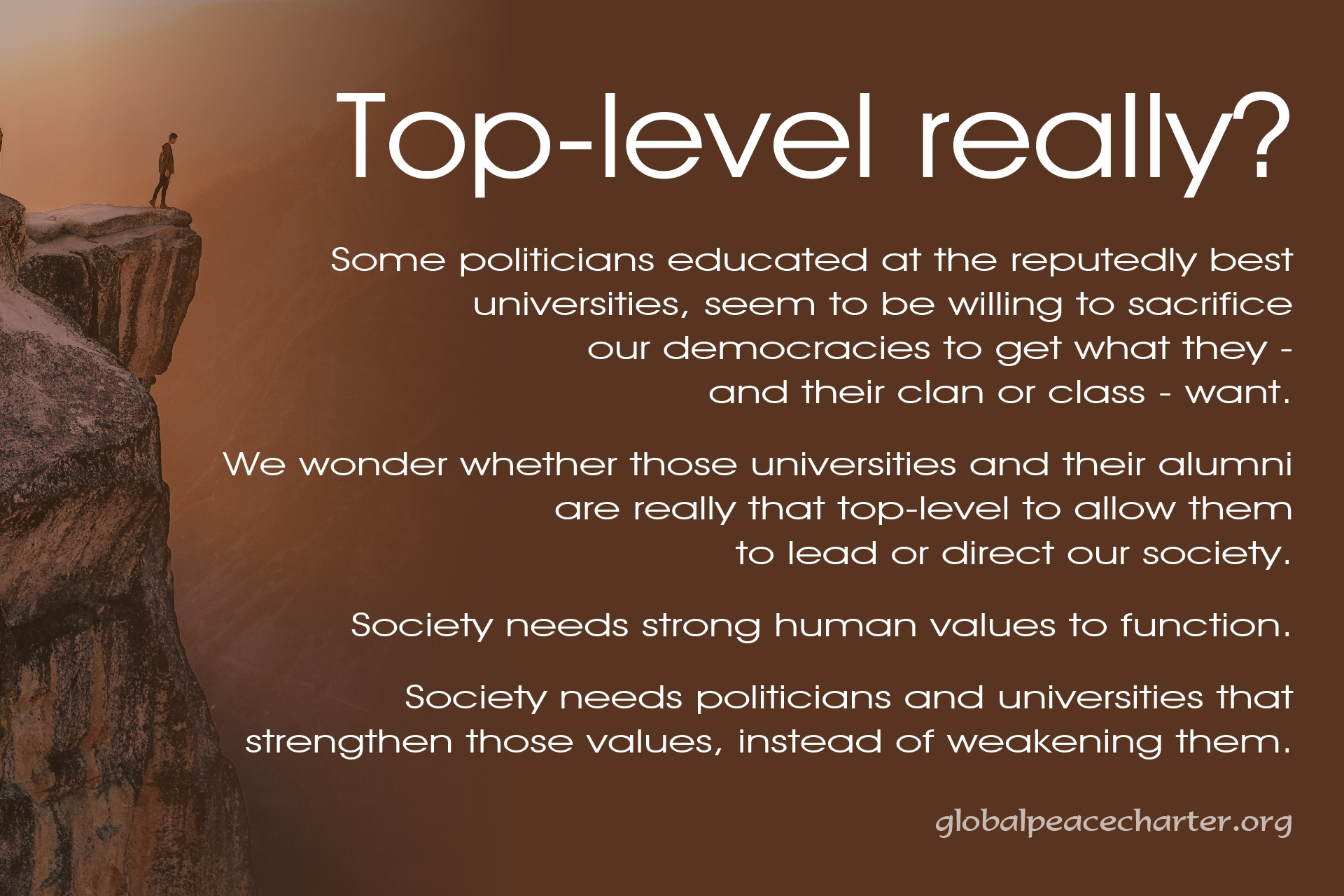 Top-level really?