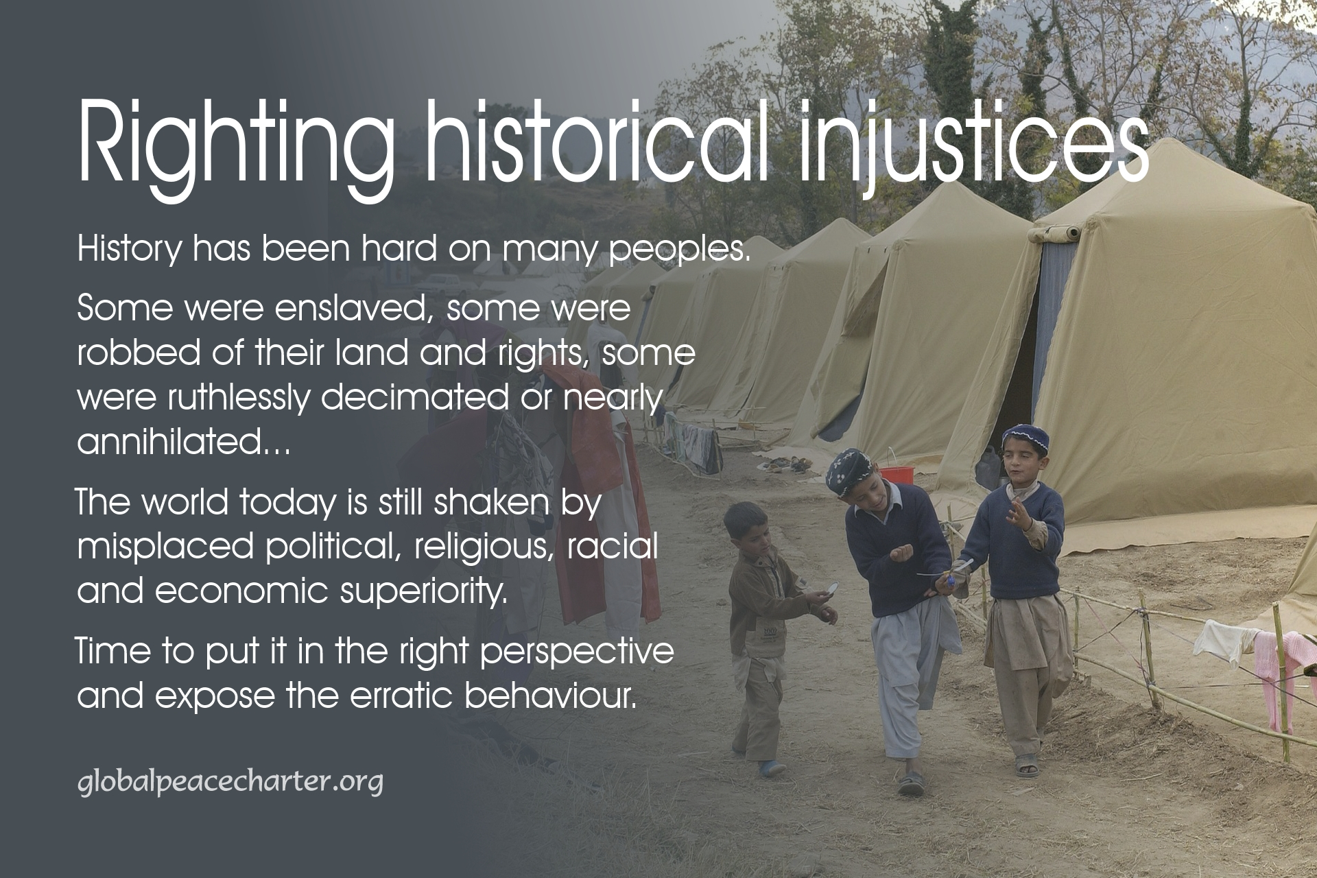 Righting historical injustices