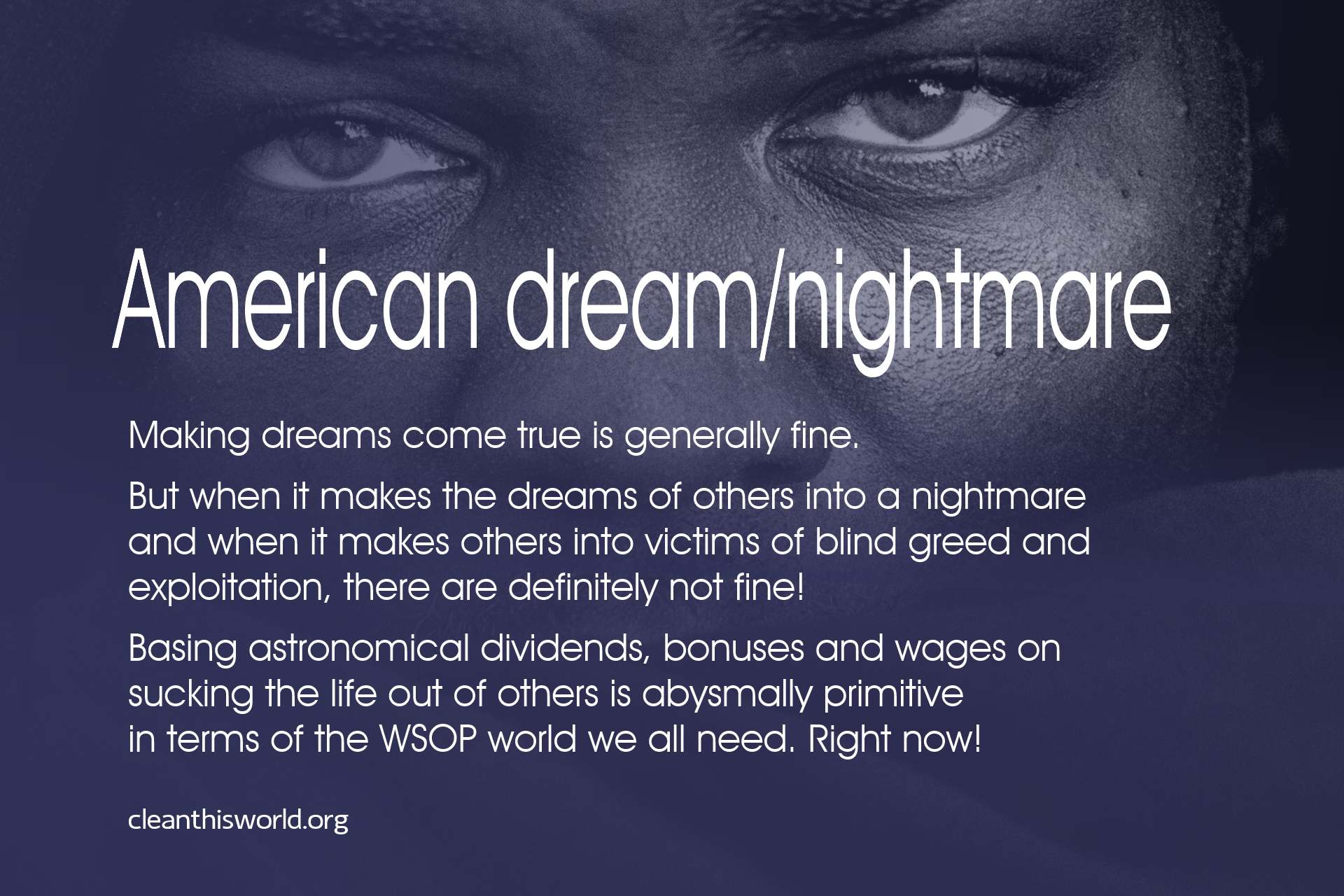 American dream/nightmare