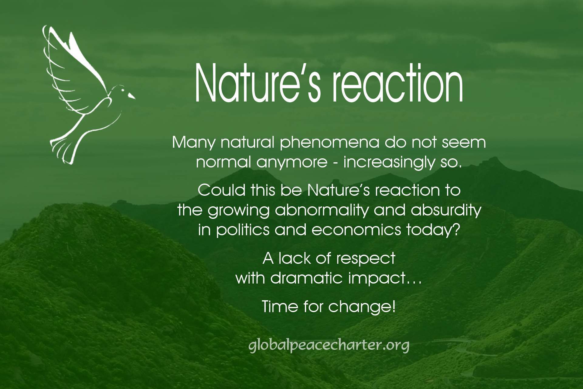 Nature's reaction