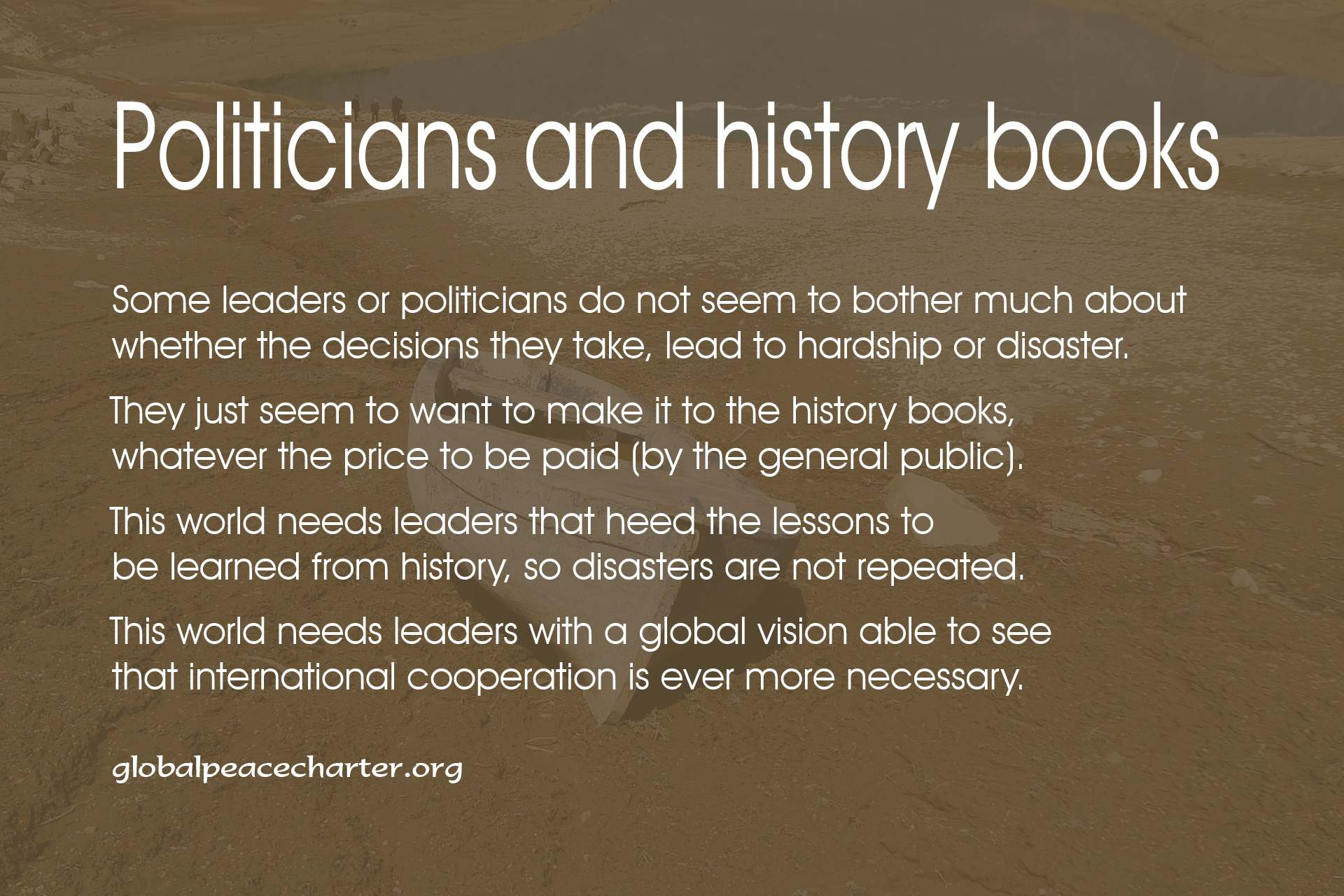 Politicians and history books