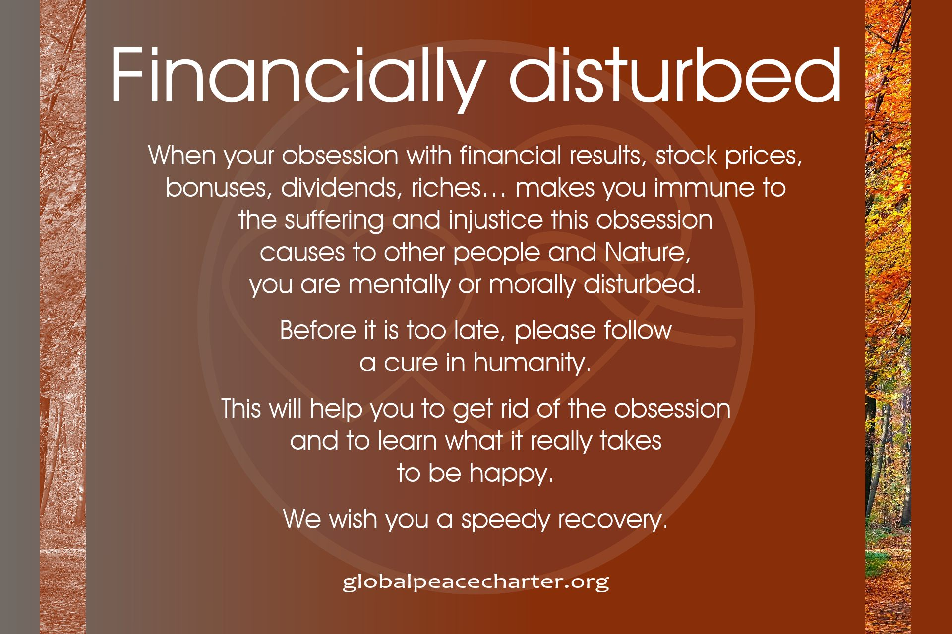 Financially disturbed