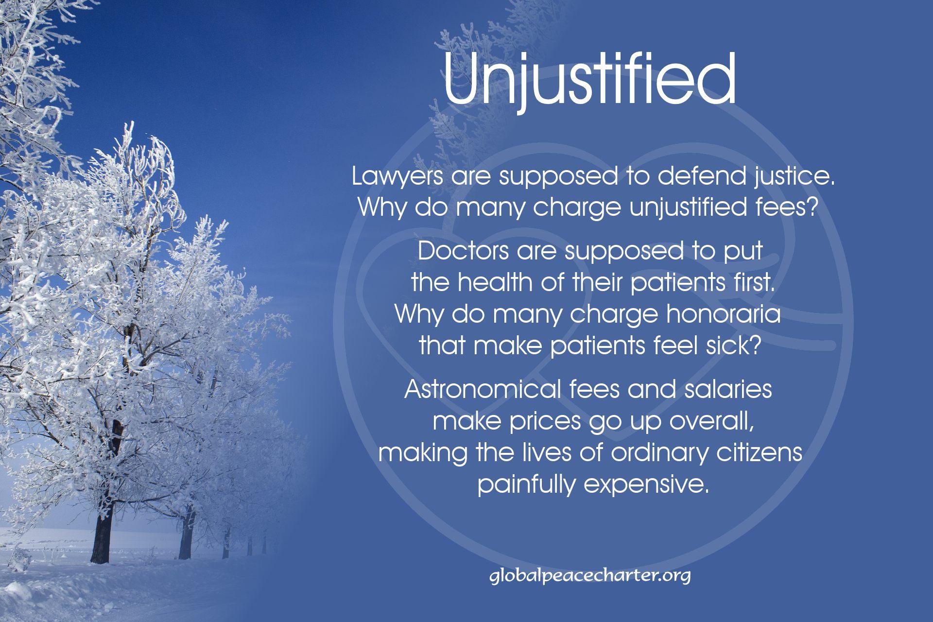 Unjustified