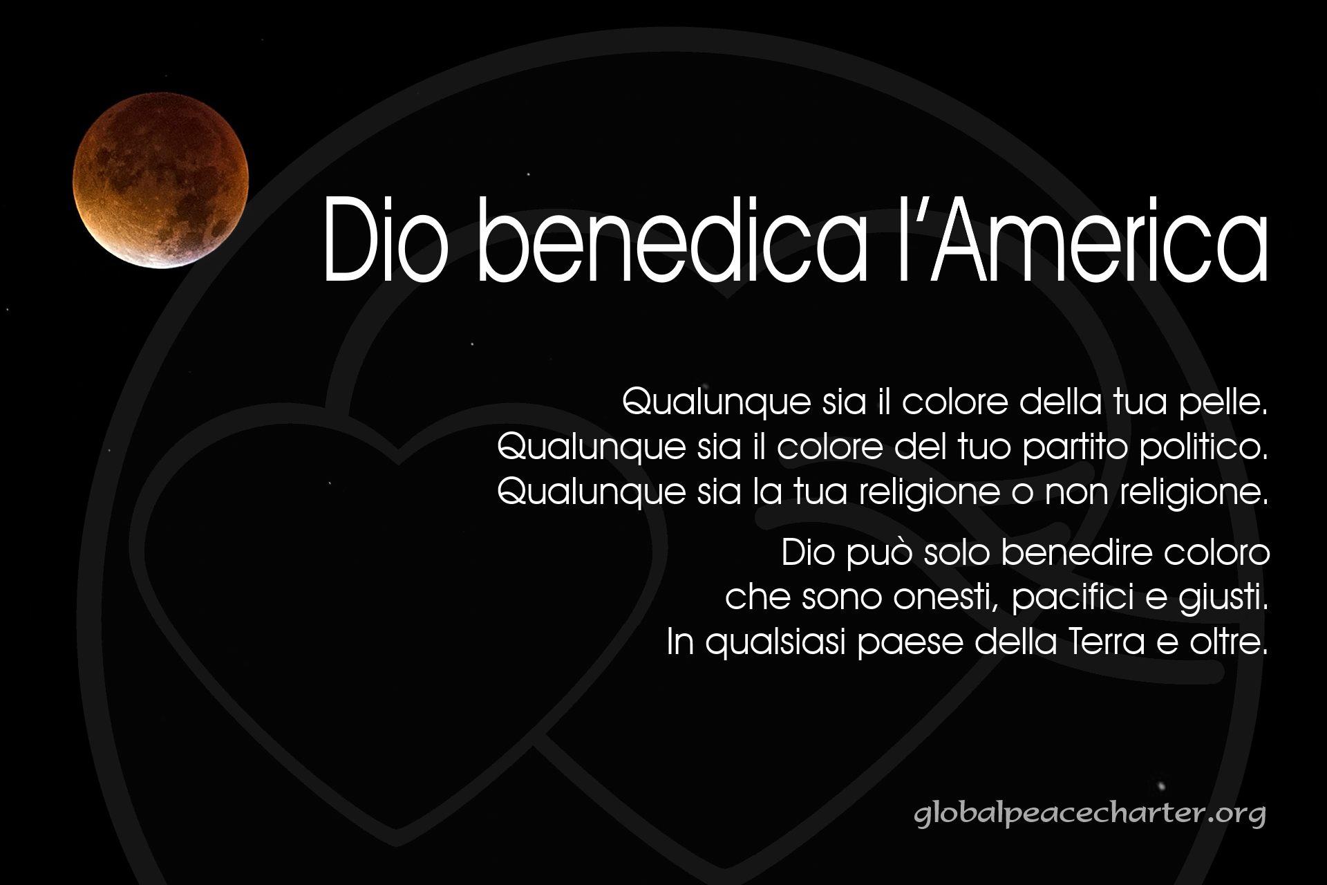Dio benedica l'America