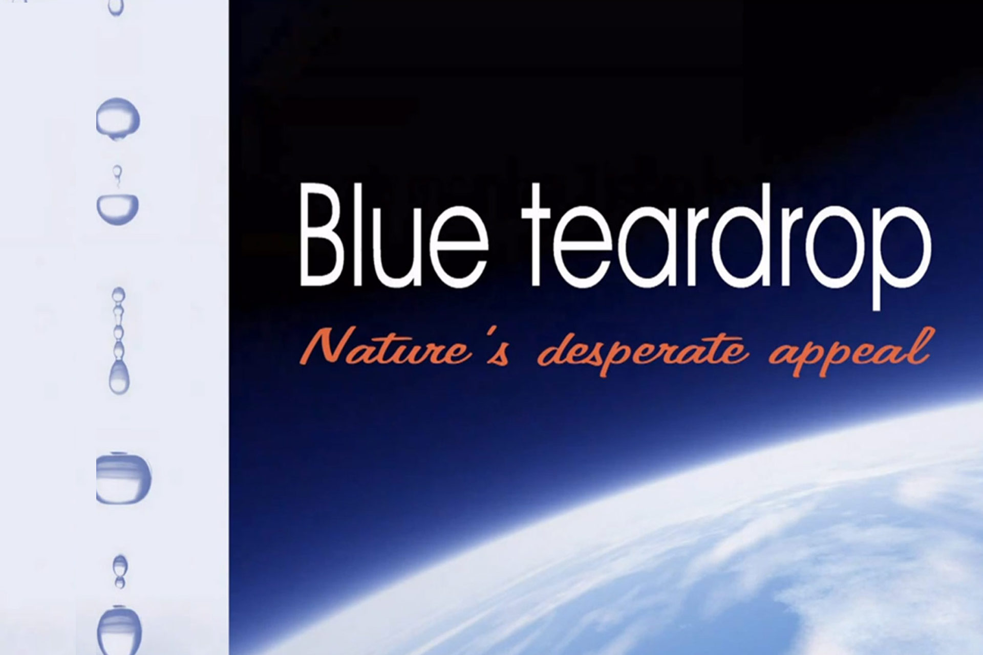 Blue teardrop - Nature's appeal